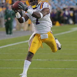 Oct 31, 2009; Baton Rouge, LA, USA;  LSU Tigers cornerback Patrick Peterson (7) in warm ups prior to kickoff against the Tulane Green Wave at Tiger Stadium. LSU defeated Tulane 42-0. Mandatory Credit: Derick E. Hingle