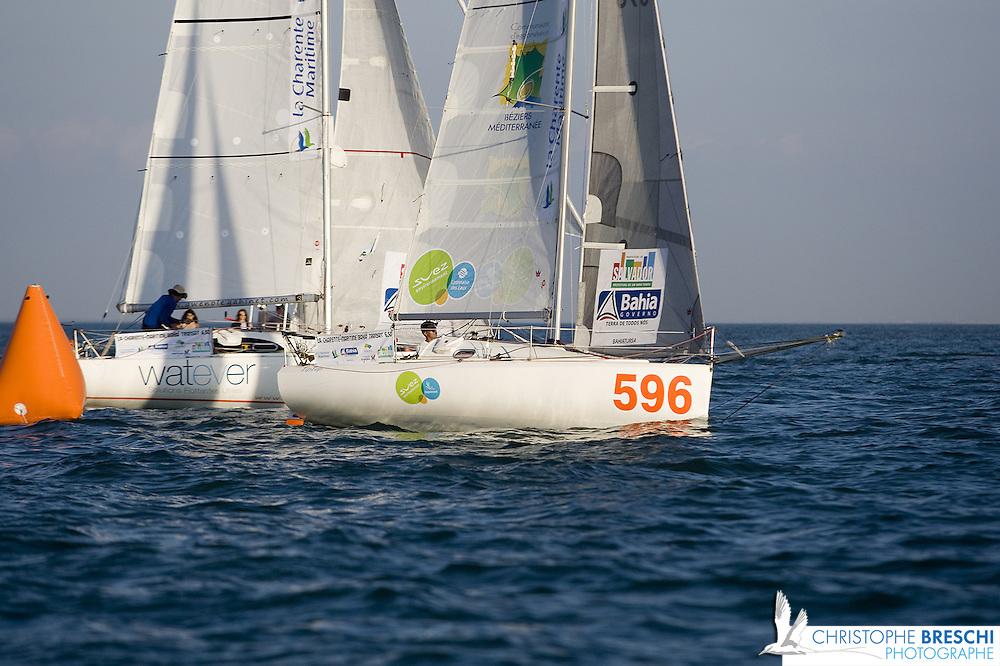 Mini transat 2011: le départ de la Rochelle
