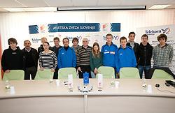 Press conference of Slovenia athlete team before European Cross country Championships in Albufeira in Portugal, on December 10, 2010 in AZS, Ljubljana, Slovenia. (Photo By Vid Ponikvar / Sportida.com)