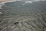 Nederland, Noord-Holland, Bergen, 14-07-2008; vissen vlak onder de kust door kotter (garnalenvisserij (?); vissersboot, Noorzee, visvangst. .luchtfoto (toeslag); aerial photo (additional fee required); .foto Siebe Swart / photo Siebe Swart