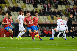 November 15, 2018 - Gdansk, Poland, DAVID PAVELKA from Czech Republic (L) and PIOTR ZIELINSKI from Poland (R) during football friendly match between Poland - Czech Republic at the Stadion Energa in Gdansk, Poland
