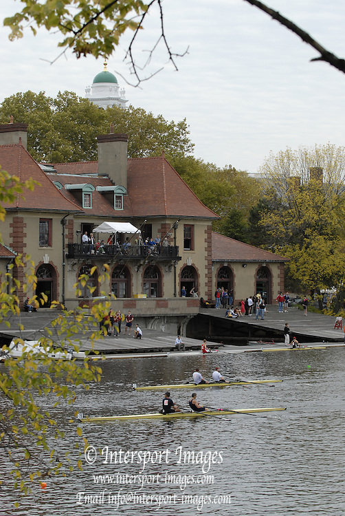 Boston, USA, GV's, Harvard's, Weld Boathouse, Head of the Charles, Race Charles River,  Cambridge,  Massachusetts. Sunday  20/10/2007  [Mandatory Credit Peter Spurrier/Intersport Images]..... , Rowing Course; Charles River. Boston. USA Boat House