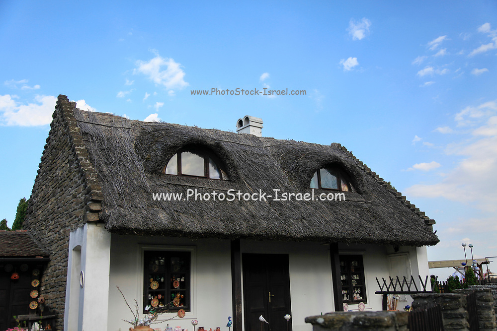Thatch roofed farmhouse in Tihany, Hungary