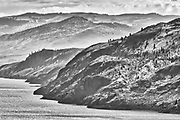 Hills around Kamloops Lake. Thompson Valley, Kamloops, British Columbia, Canada