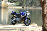 1998 Honda Hornet 600cc - Candy Tahitian Blue .Lysterfield Lake, Lysterfield, Victoria, Australia.16th September 2006.(C) Joel Strickland Photographics.Use information: This image is intended for Editorial use only (e.g. news or commentary, print or electronic). Any commercial or promotional use requires additional clearance.