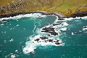 aerial over Stewart Island, New Zealand