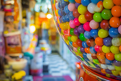 United States, Washington, Issaquah, a gumball machine in restaurant