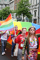 Dublin Pride 2012 LGBTQ festival parade travels through Dublin City Ireland. Saturday 30th June 2012.
