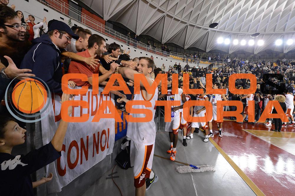 DESCRIZIONE : Roma Lega A 2012-13 Acea Roma Juve Caserta<br /> GIOCATORE : Peter Lorant<br /> CATEGORIA : curiosita tifosi esultanza<br /> SQUADRA : Acea Roma<br /> EVENTO : Campionato Lega A 2012-2013 <br /> GARA : Acea Roma Juve Caserta<br /> DATA : 28/10/2012<br /> SPORT : Pallacanestro <br /> AUTORE : Agenzia Ciamillo-Castoria/GiulioCiamillo<br /> Galleria : Lega Basket A 2012-2013  <br /> Fotonotizia : Roma Lega A 2012-13 Acea Roma Juve Caserta<br /> Predefinita :