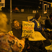 Miranda Cox, shortly before the blockade. 13 local activists locked themselves in specially made arm tubes to block the entrance to Quadrilla's drill site in New Preston Road, July 03 2017, Lancashire, United Kingdom. The 13 activists included 3 councillors; Julie Brickles, Miranda Cox and Gina Dowding and Nick Danby, Martin Porter, Jeanette Porter,  Michelle Martin, Louise Robinson,<br />