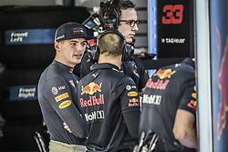 November 10, 2018 - Sao Paulo, Brazil - VERSTAPPEN Max (ned), Aston Martin Red Bull Tag Heuer RB14, portrait during the 2018 Formula One World Championship, Brazil Grand Prix from November 08 to 11 in Sao Paulo, Brazil -  FIA Formula One World Championship 2018, Grand Prix of Brazil World Championship;2018;Grand Prix;Brazil ,  #44 Lewis Hamilton (GBR, Mercedes AMG Petronas F1 Team) (Credit Image: © Hoch Zwei via ZUMA Wire)