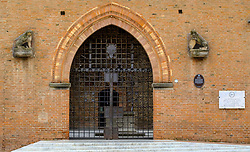 Entrance gate to the Palazzo Re Enzo, in Bologna, Italy<br /> <br /> (c) Andrew Wilson | Edinburgh Elite media