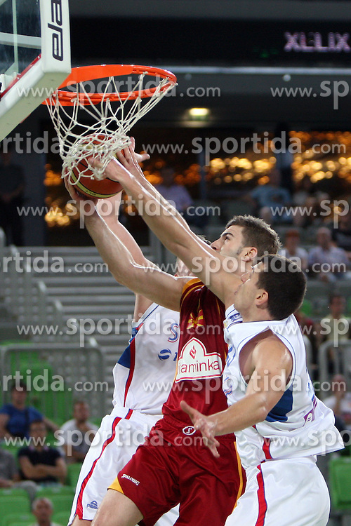 Darko Sokolov of Macedonia at friendly match between Serbia and Macedonia for Adecco Cup 2011 as part of exhibition games before European Championship Lithuania on August 7, 2011, in SRC Stozice, Ljubljana, Slovenia. (Photo by Urban Urbanc / Sportida)