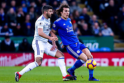 Caglar Soyuncu of Leicester City takes on Callum Paterson of Cardiff City - Mandatory by-line: Robbie Stephenson/JMP - 29/12/2018 - FOOTBALL - King Power Stadium - Leicester, England - Leicester City v Cardiff City - Premier League
