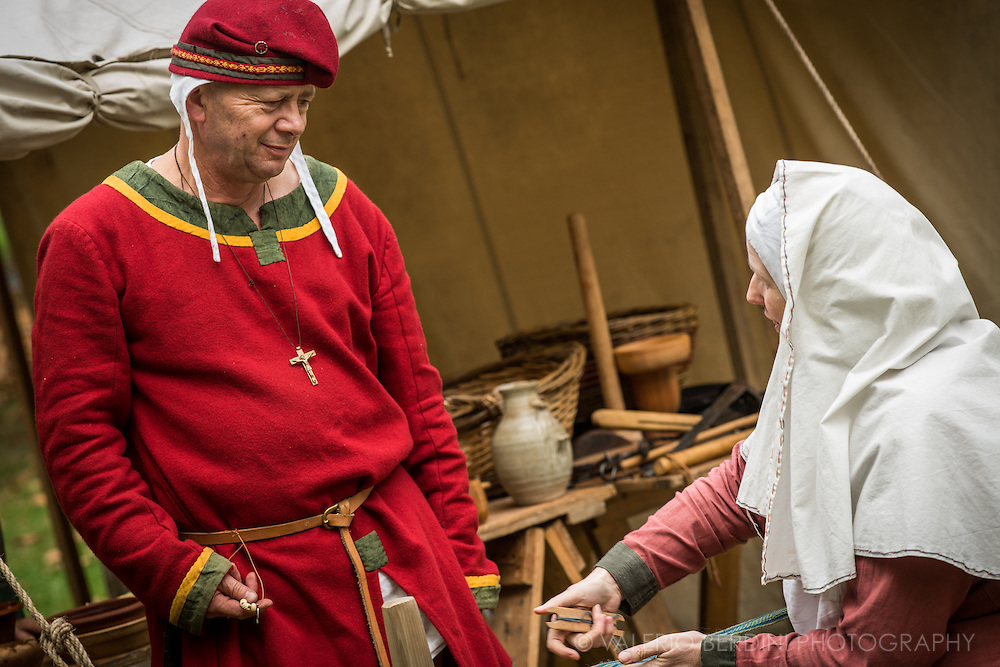 Strategic talks going on. It's been 950 years since King Harold got an arrow in the eye at the Battle of Hastings. A group of re-enactors set up a camp near Apsley House in Hyde Park, London, to show their weapons, games and living arrangements.