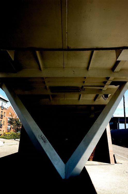 A bridge support
