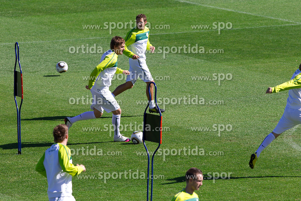 Nejc Pecnik of Slovenia during a training session at  Hyde Park High School Stadium on June 14, 2010 in Johannesburg, South Africa.  (Photo by Vid Ponikvar / Sportida)