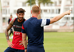 Eros Pisano of Bristol City talks with Dean Holden - Mandatory by-line: Matt McNulty/JMP - 21/07/2017 - FOOTBALL - Tenerife Top Training Centre - Costa Adeje, Tenerife - Pre-Season Training