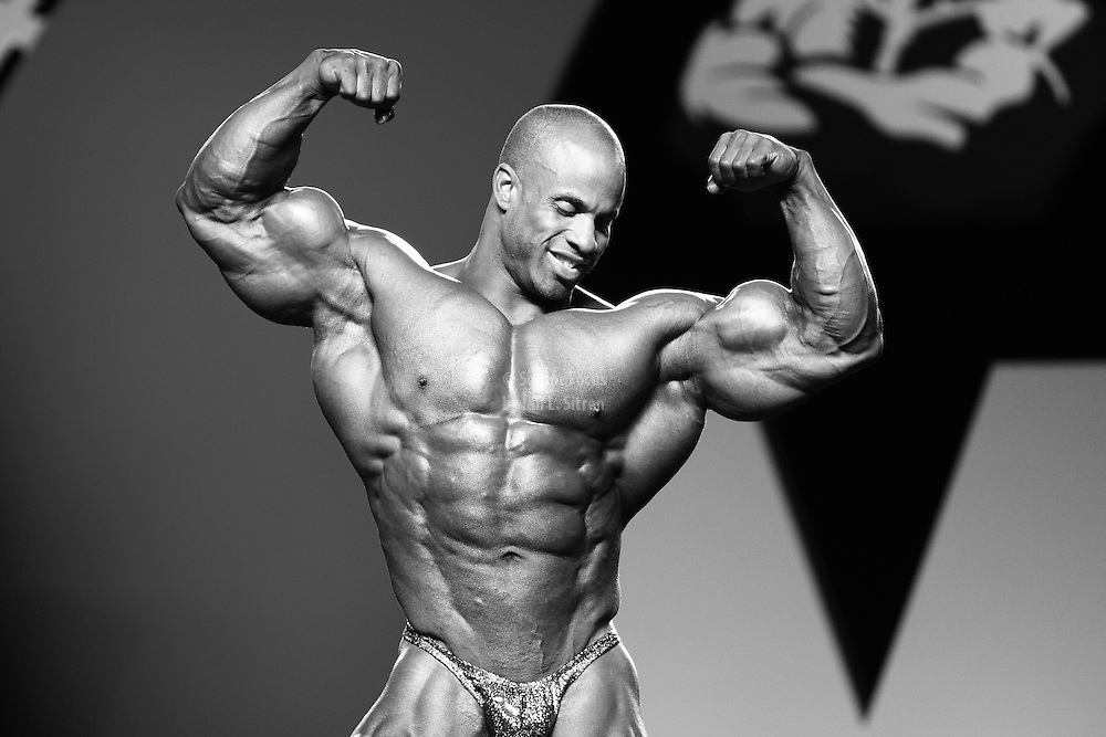 Victor Martinez competing at the 2010 Mr. Olympia finals in Las Vegas.
