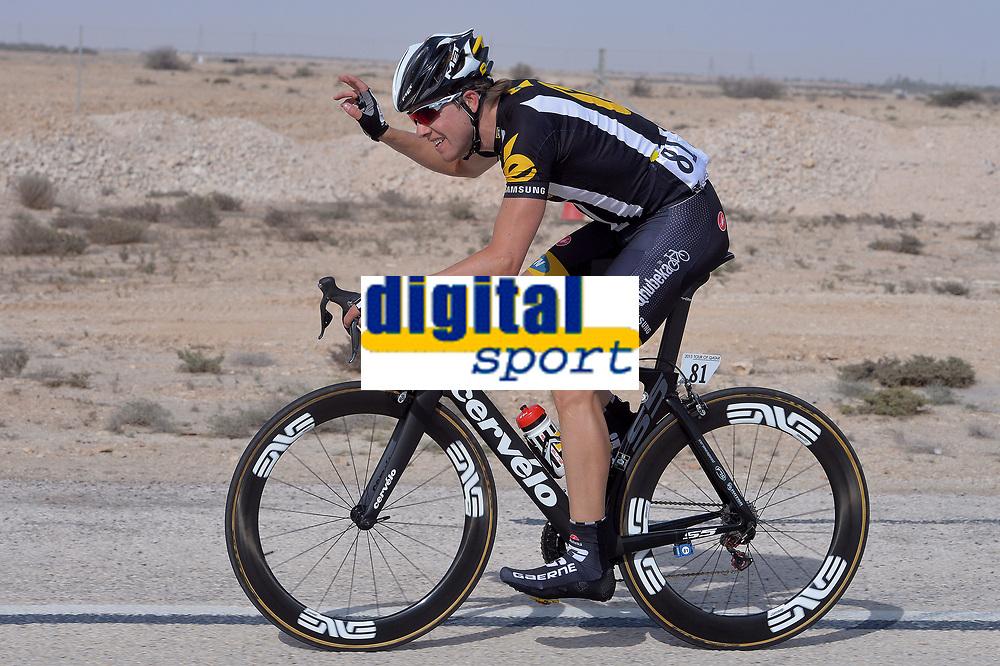 BOASSON HAGEN Edvald (NOR) during the 14th Tour of Qatar 2015, Stage 5, Al Zubarah Fort - Madinat Al Shamal (153Km), on February 12, 2015. Photo Tim de Waele / DPPI