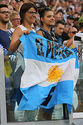 August 19, 2017 - Turin, Piedmont, Italy - Higuain fans celebrate the goal of the ''Pipita'' during the Serie A football match between Juventus FC and Cagliari Calcio at Allianz Stadium on august 19, 2017 in Turin, Italy. (Credit Image: © Massimiliano Ferraro/NurPhoto via ZUMA Press)