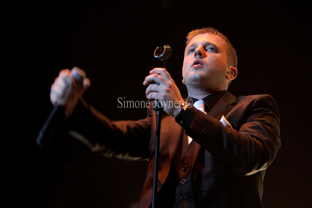 British rapper and singer Plan B aka Ben Drew performs live on stage at the 02 Arena on March 10, 2011 in London, England.  (Photo by Simone Joyner)