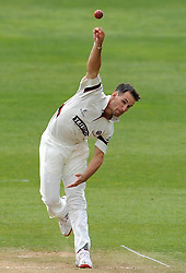 Somerset's Lewis Gregory - Photo mandatory by-line: Harry Trump/JMP - Mobile: 07966 386802 - 13/04/15 - SPORT - CRICKET - LVCC County Championship - Day 2 - Somerset v Durham - The County Ground, Taunton, England.