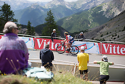 Chantal Blaak (NED) of Boels-Dolmans Cycling Team reaches the final meters of La Course 2017 - a 67.5 km road race, from Briancon to Izoard on July 20, 2017, in Hautes-Alpes, France. (Photo by Balint Hamvas/Velofocus.com)