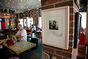 8-12-10 --- Signed Doug Sahm photo on display at AllGood Cafe