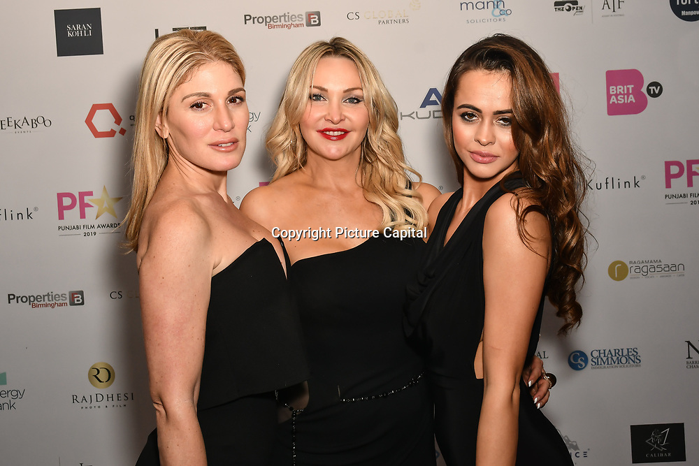 Hofit Golan, Heather Bird and Bethan Wright is a actress attend the BritAsiaTV Presents Kuflink Punjabi Film Awards 2019 at Grosvenor House, Park Lane, London,United Kingdom. 30 March 2019