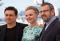 Director Cristian Mungiu, actress Maria Dragus and actor Adrian Titieni at the gala screening for the film Graduation (Bacalaureat) at the 69th Cannes Film Festival, Thursday 19th May 2016, Cannes, France. Photography: Doreen Kennedy