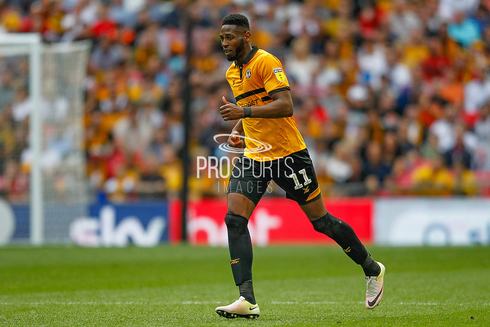 Newport County forward Jamille Matt (11) during the EFL Sky Bet League 2 Play Off Final match between Newport County and Tranmere Rovers at Wembley Stadium, London, England on 25 May 2019.