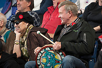 KELOWNA, CANADA - NOVEMBER 9:  Kelowna rockets fans sit in the stands as the Red Deer Rebels visit the Kelowna Rockets on November 9, 2012 at Prospera Place in Kelowna, British Columbia, Canada (Photo by Marissa Baecker/Shoot the Breeze) *** Local Caption ***