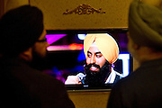 Fans cheer on American Idol contestant Gurpreet Singh Sarin during a watch party hosted by the Sikh Coalition in Southlake on Thursday, February 28, 2013. (Cooper Neill/The Dallas Morning News)