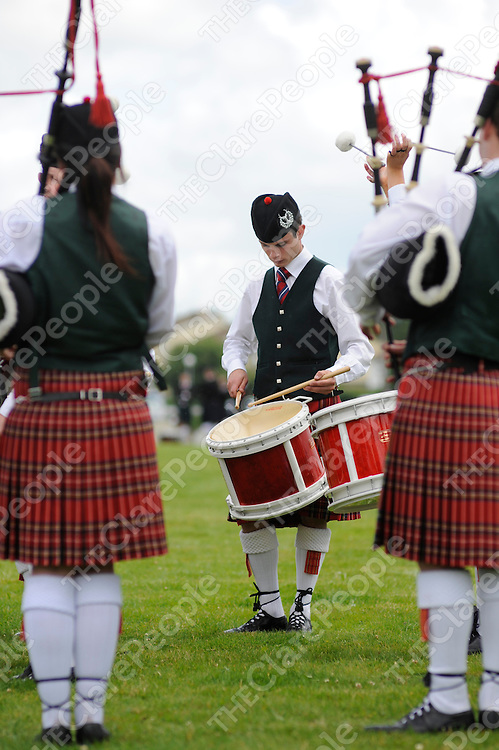 The Banbridge Pipe Band at the International Pipe Band competition at the Showgrounds in Ennis last week-end.<br />Patrick McHugh