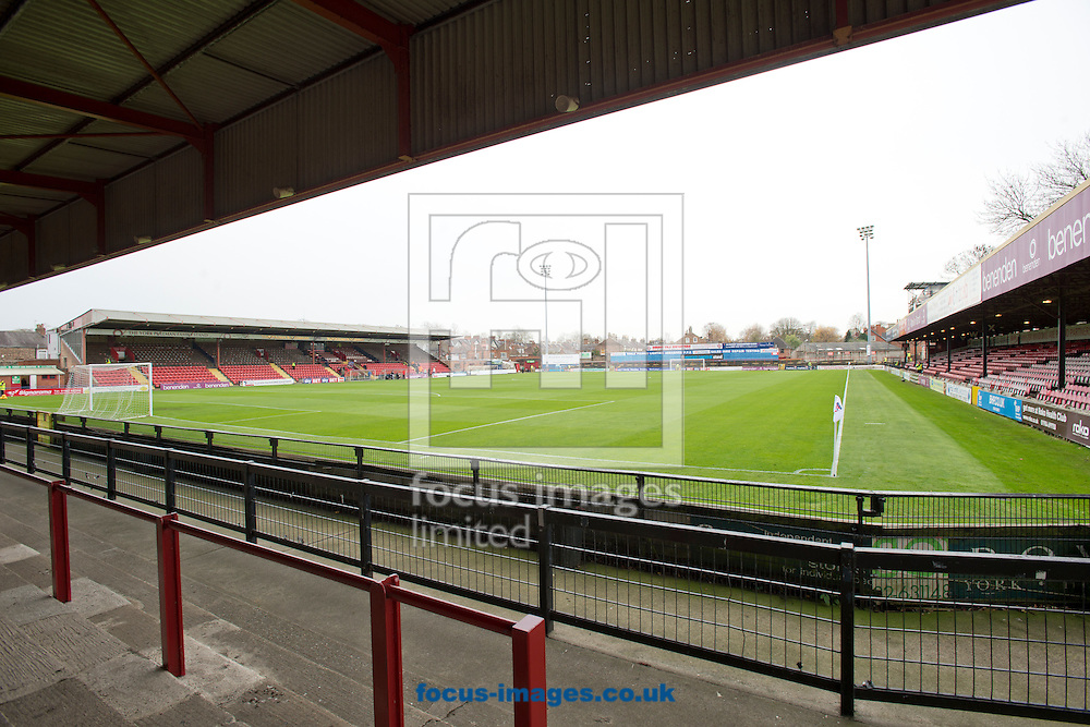 A general view of the stadium before the Sky Bet League 2 match at Bootham Crescent, York<br /> Picture by Russell Hart/Focus Images Ltd 07791 688 420<br /> 14/11/2015