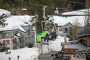 Trump and Hillary ride the chairs at Squaw Valley