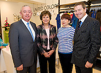 Jarlaith Feeney, Mrs Breda Ryan , Elizabeth Ryan and Padraic O'Maille at the opening of United Colors of Benetton Store in Anthony Ryan's. Photo:Andrew Downes