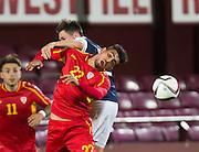 FYR Macedonia's Eljif Elmas during Scotland Under-21 v FYR Macedonia,  UEFA Under 21 championship qualifier  at Tynecastle, Edinburgh. Photo: David Young<br /> <br />  - © David Young - www.davidyoungphoto.co.uk - email: davidyoungphoto@gmail.com