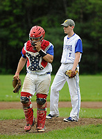 Gilford varsity baseball with White Mountain.  Karen Bobotas for the Laconia Daily Sun