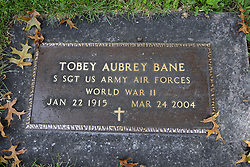 31 August 2017:   Veterans graves in Dawson Cemetery in eastern McLean County.<br /> <br /> Tobey Aubrey Bane Staff Sergeant US Army Air Forces  World War II  Jan 22 1915  Mar 24 2004