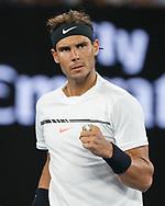 RAFAEL NADAL (ESP) macht die Faust und jubelt,Jubel,Emotion,<br /> <br /> Australian Open 2017 -  Melbourne  Park - Melbourne - Victoria - Australia  - 27/01/2017.