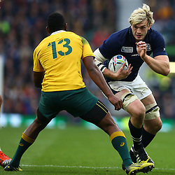 LONDON, ENGLAND - OCTOBER 18: Richie Gray of Scotland during the Rugby World Cup Quarter Final match between Australia v Scotland at Twickenham Stadium on October 18, 2015 in London, England. (Photo by Steve Haag)
