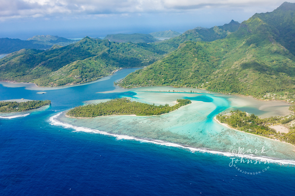 Aerial photograph of Huahine, French Polynesia