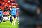 Tottenham Hotspur Forward Son Heung-Min (7) warms up ahead of the The FA Cup 4th round replay match between Tottenham Hotspur and Newport County at Wembley Stadium, London, England on 7 February 2018. Picture by Stephen Wright.