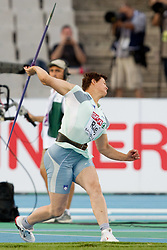 Martina Ratej of Slovenia competes in the Womens Javelin Qualifying during day one of the 20th European Athletics Championships at the Olympic Stadium on July 27, 2010 in Barcelona, Spain. (Photo by Vid Ponikvar / Sportida)