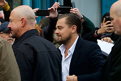 Oscar-winner Leonardo Di Caprio visits the Home restaurant in Edinburgh, which works to help the homeless before a keynote speech at Scottish Business Awards at the EICC. Thursday 17th November 2016 (c) Brian Anderson | Edinburgh Elite media
