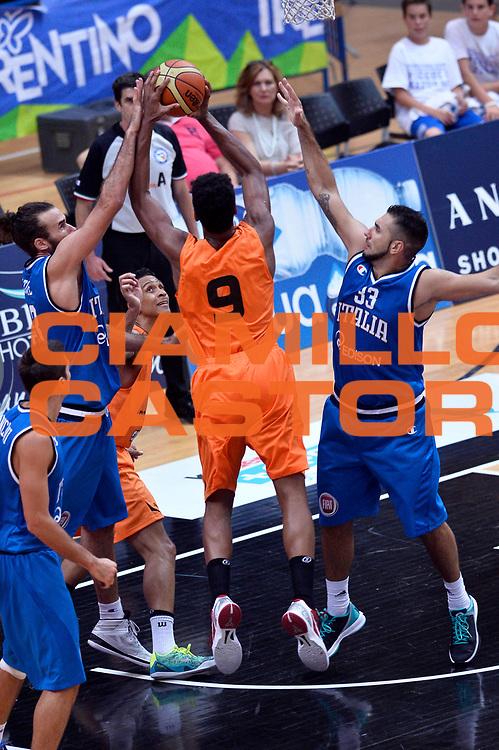 DESCRIZIONE : Trento Nazionale Italia Uomini Trentino Basket Cup Italia Olanda Italy Holland<br /> GIOCATORE : Pietro Aradori Luigi Datome<br /> CATEGORIA : Difesa<br /> SQUADRA : Italia Italy<br /> EVENTO : Trentino Basket Cup<br /> GARA : Italia Olanda Italy Holland<br /> DATA : 11/07/2014<br /> SPORT : Pallacanestro<br /> AUTORE : Agenzia Ciamillo-Castoria/GiulioCiamillo<br /> Galleria : FIP Nazionali 2014<br /> Fotonotizia : Trento Nazionale Italia Uomini Trentino Basket Cup Italia Olanda Italy Holland