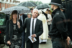 © Licensed to London News Pictures . 15/07/2016 . Bolton , UK . The funeral of Special Constable Samantha Derbyshire at St Mary's RC Church in Horwich , Bolton. Derbyshire was struck and killed by an HGV on the M61 motorway following a collision , in the early hours of Monday 11th July 2016 . Photo credit : Joel Goodman/LNP