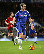 Chelsea defender Branislav Ivanovic driving forwaesduring the Barclays Premier League match between Chelsea and West Bromwich Albion at Stamford Bridge, London, England on 13 January 2016. Photo by Matthew Redman.